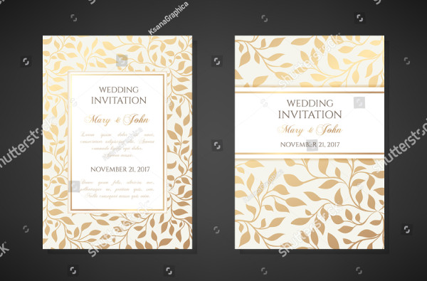 Vintage Wedding Invitation Templates Design