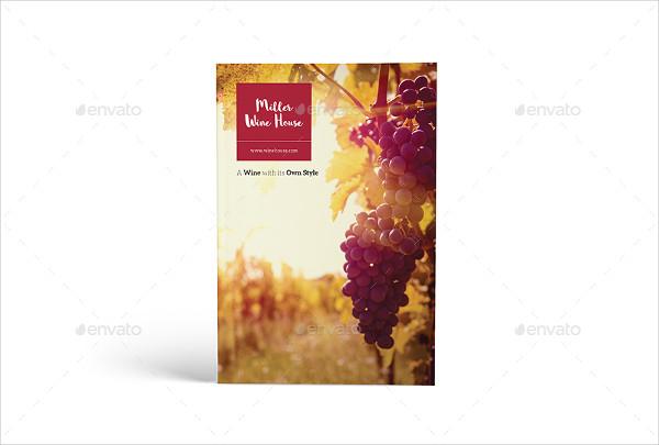 Vintage Wine Brochure Template