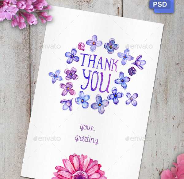 2 PSD Watercolor Greeting Cards