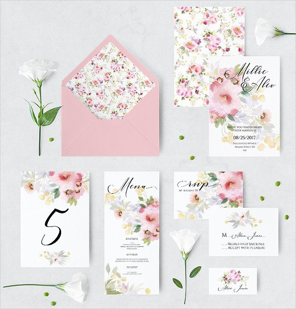 Floral Wedding Invitations & Greeting Cards