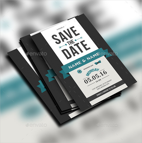 Traditional Save The Date Invitation Template