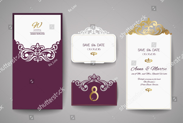 Wedding Invitation or Greeting Card Template