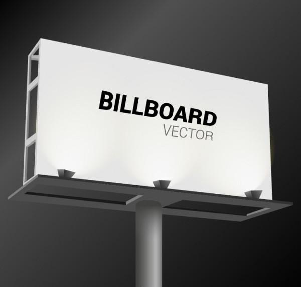 White Billboard Vector Free