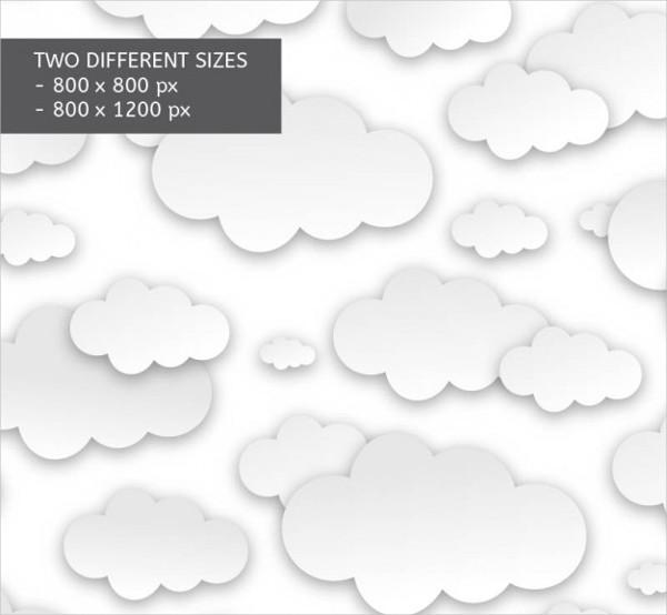 White Clouds Pattern Free Download