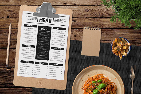 Best Typography Menu Templates