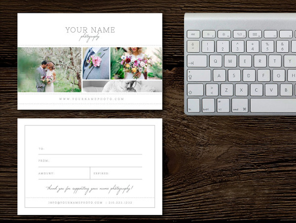 Branding Photography Gift Card Templates