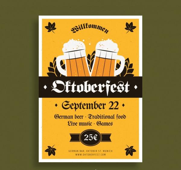 Classic Oktoberfest Poster Templates Free Download