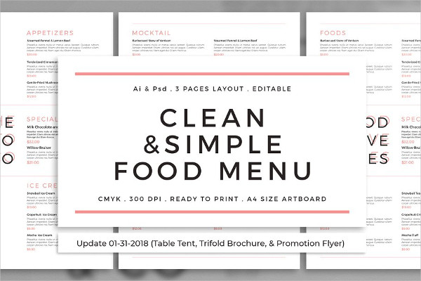 Clean & Simple Food Template