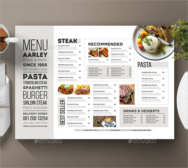 Clean Typography Menu Design