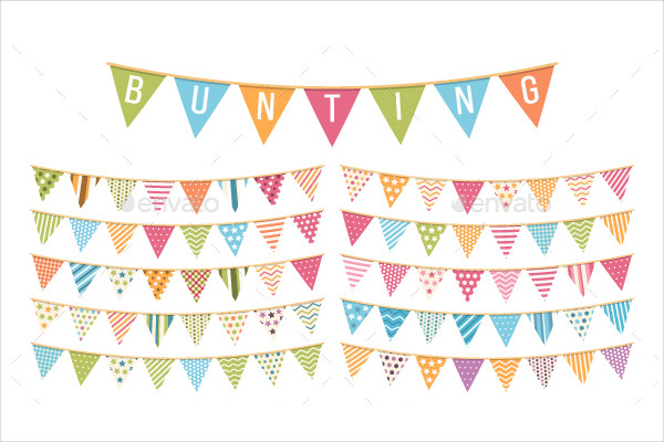 Cool Colorful Bunting Banner Design