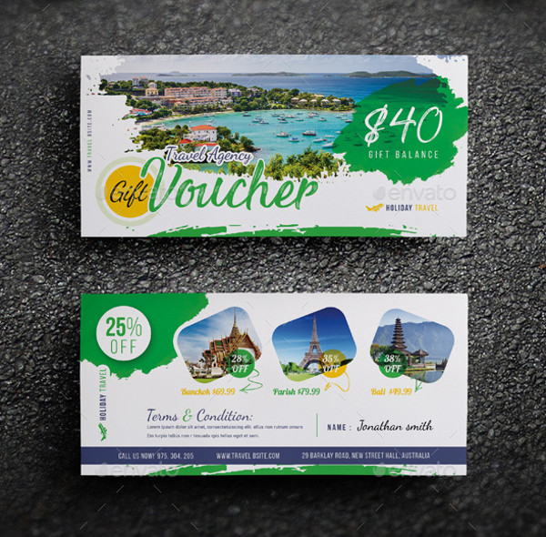 Creative Travel Agency Gift Voucher