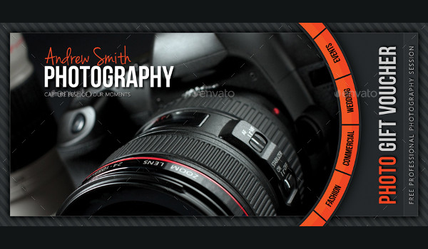 Editable Photography Voucher Design