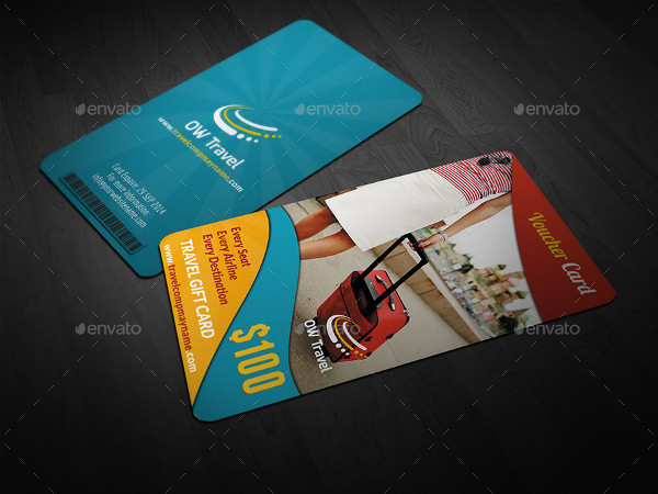 Editable Travel Gift Voucher Card Template