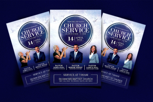 Famous Church Service Flyer Template