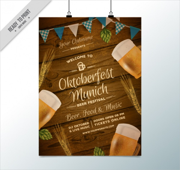 Fantastic Poster for Oktoberfest Free