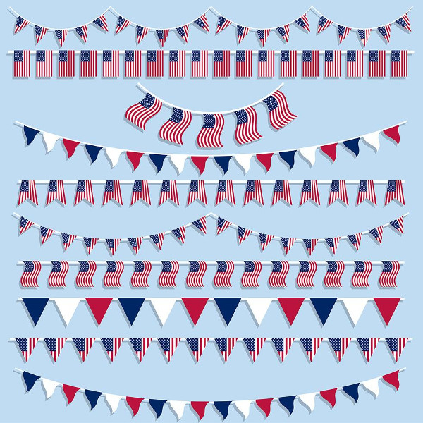 Free Download American Flags Bunting And Banners