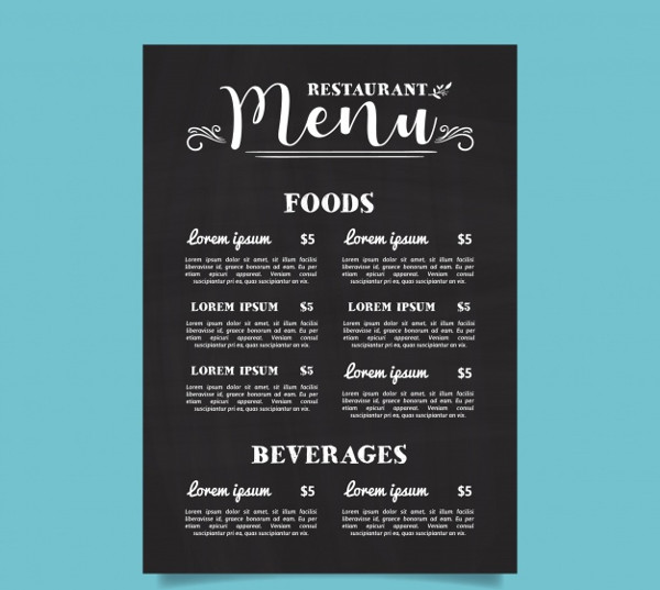 Free Typography Menu Download