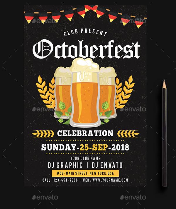 Fully Editable Oktoberfest Poster