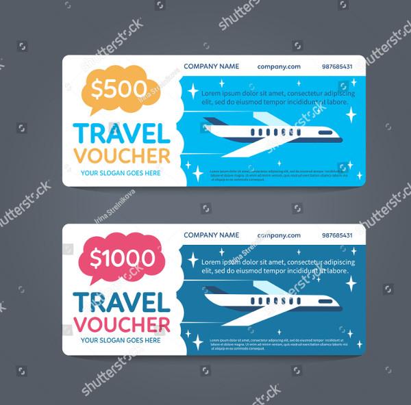 Gift Travel Voucher Vector
