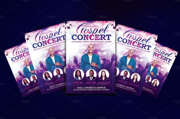 Gospel Concert and Church Flyer Template