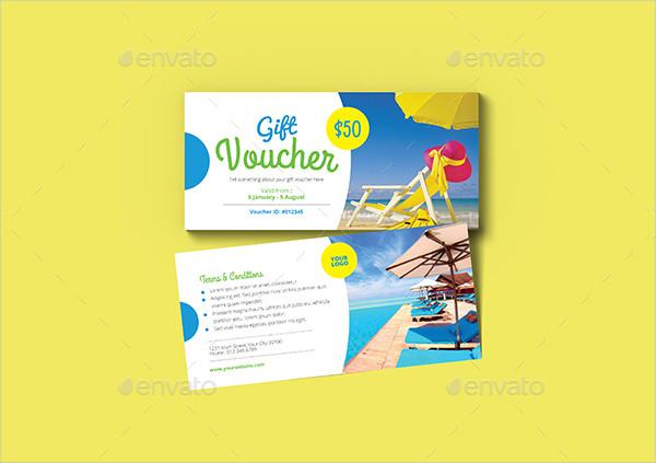 Holiday Travel Gift Voucher Design