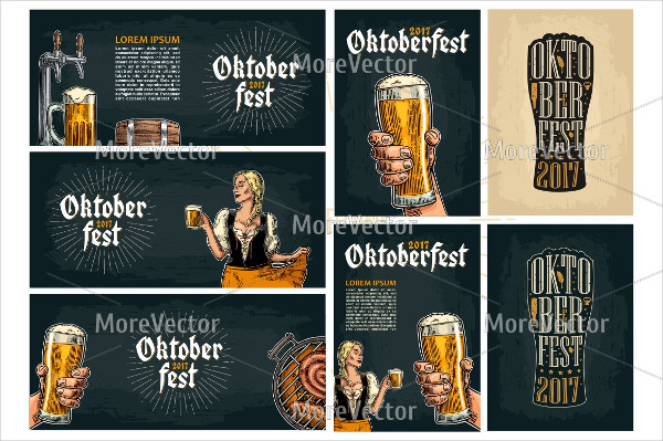 Horizontal and Vertical Poster for Oktoberfest