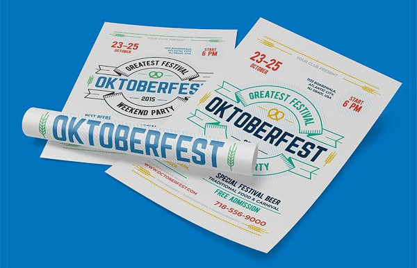 Modern Oktoberfest Festival Poster