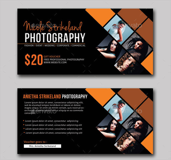 Modern Photography Business Gift Voucher