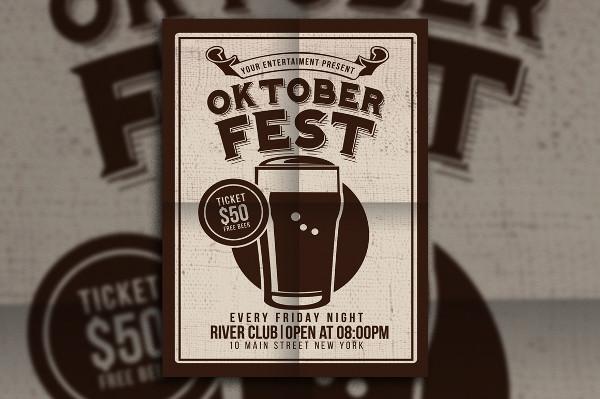 Oktober Fest Beer Party Poster Design