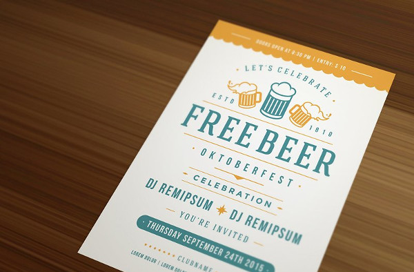Oktoberfest Beer Festival Retro Typography Poster