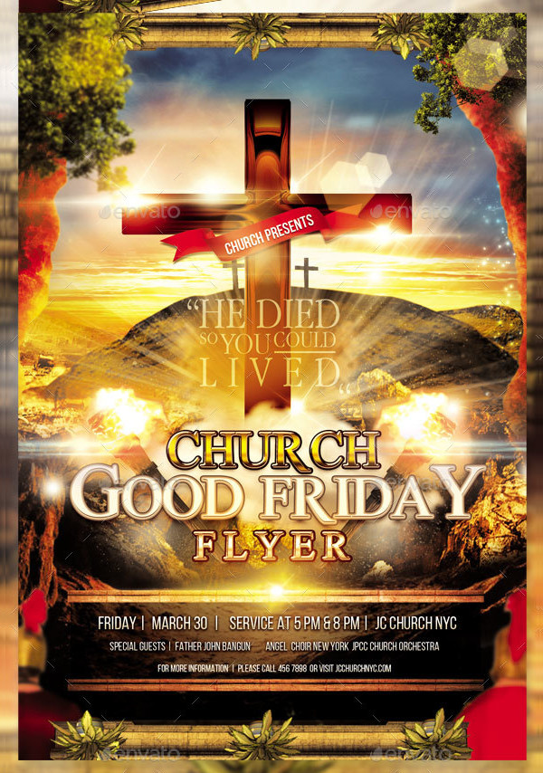 Perfect Good Friday Church Service Flyer