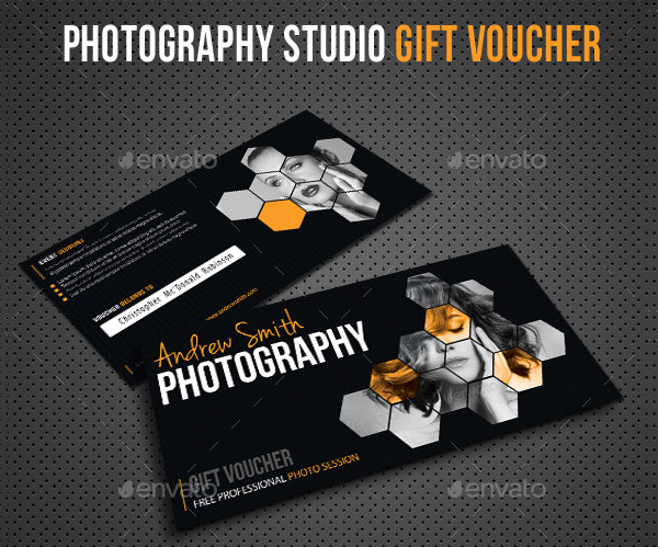 Perfect Photography Studio Gift Voucher Design