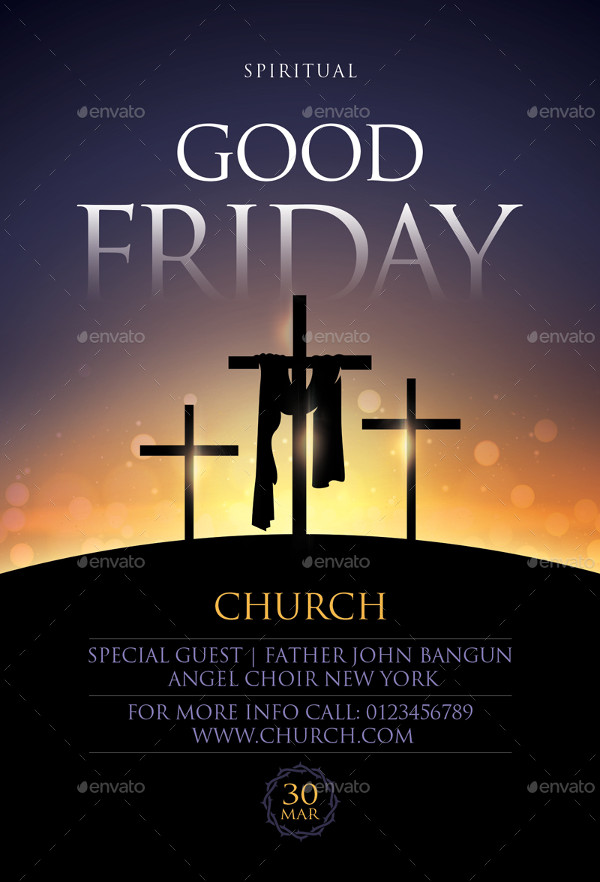Popular Good Friday Service Flyer