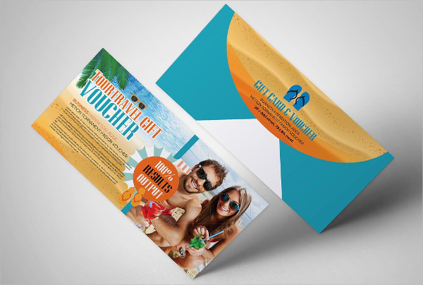 Professional Tour Travel Gift Voucher Template