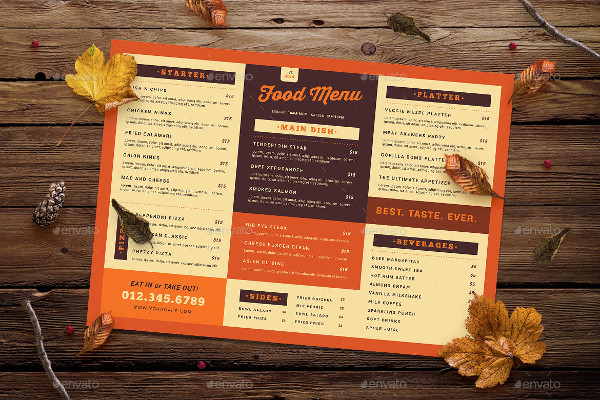 Retro Food Menu Design