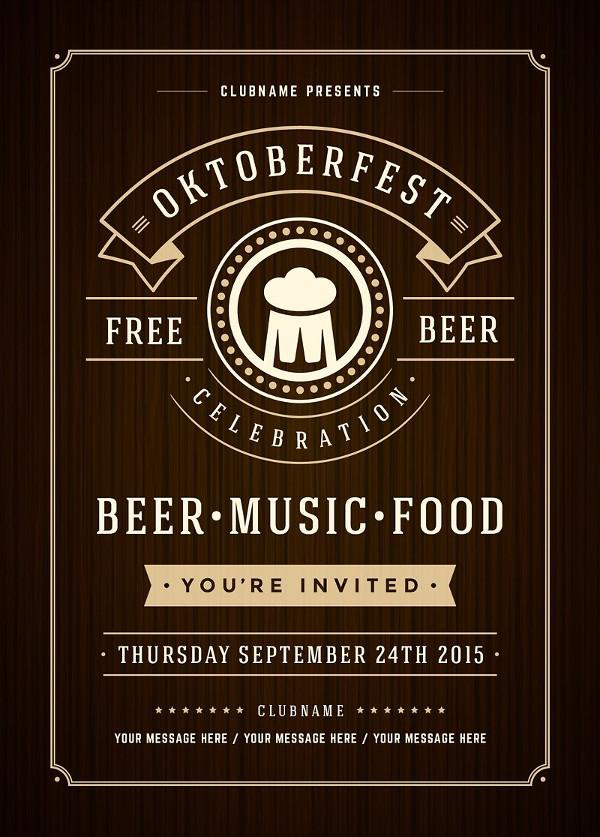 Retro Oktoberfest Festival Poster