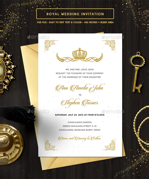 Customizable Royal Wedding Invitation Template