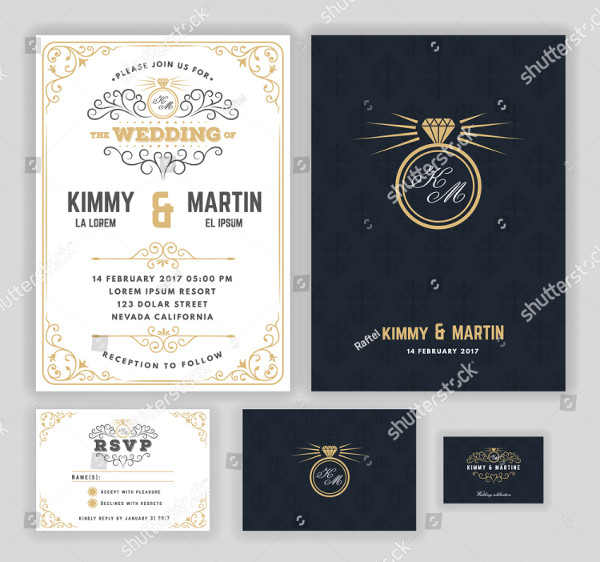 Royal Creative Wedding Invitations Design