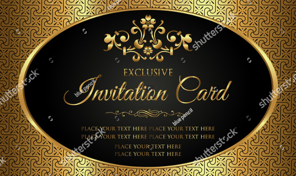 Royal Luxury Wedding Invitation Card