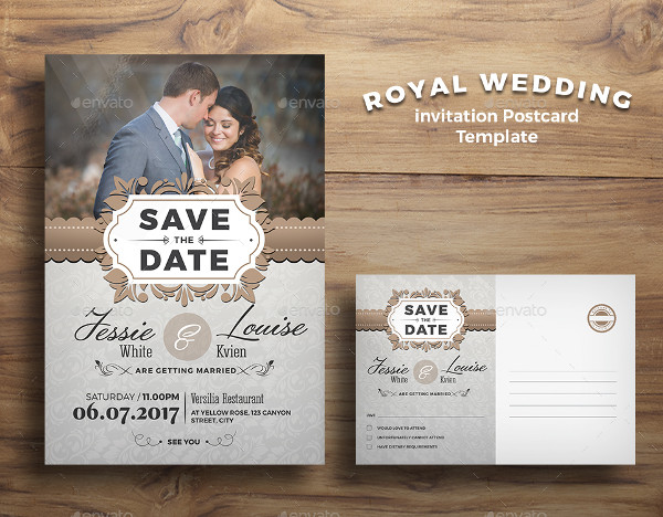 Royal Wedding Save Date Invitation