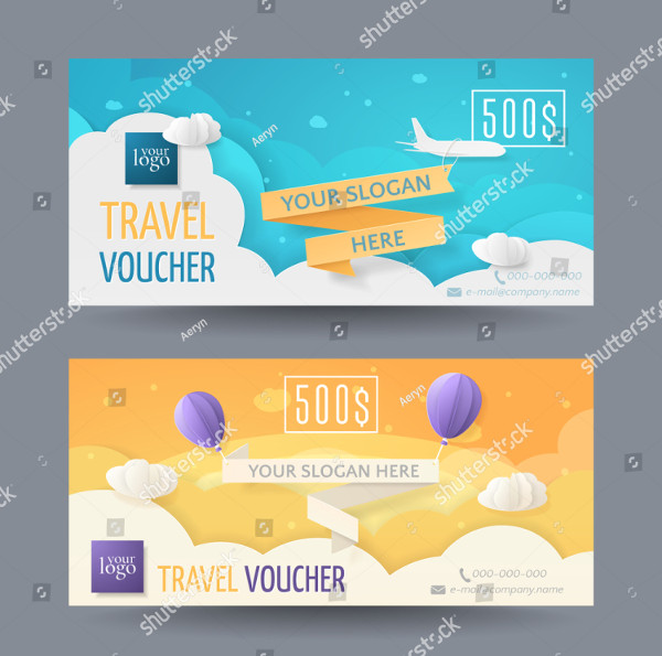 Set of Modern Travel Vouchers