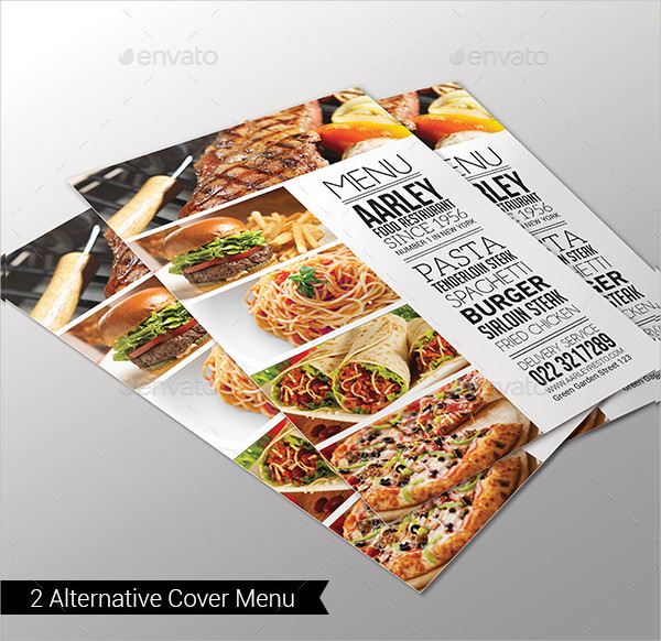 Simple Typography Menu Flyer