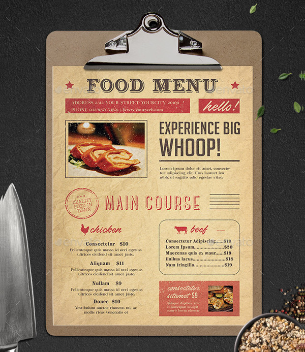 Typography Breakfast Menu Template