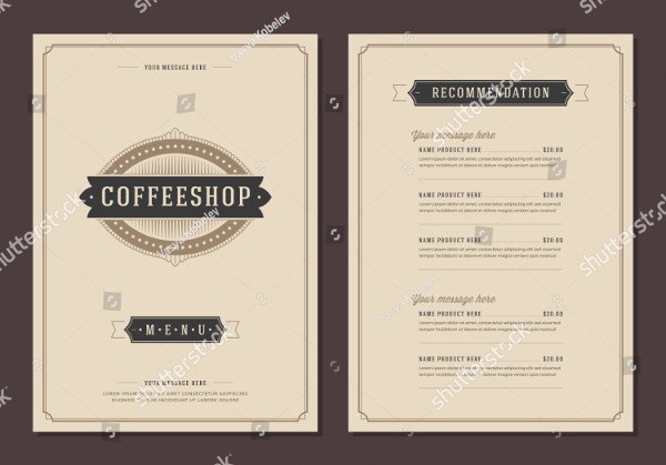 Typography Coffee Menu & Logo Design