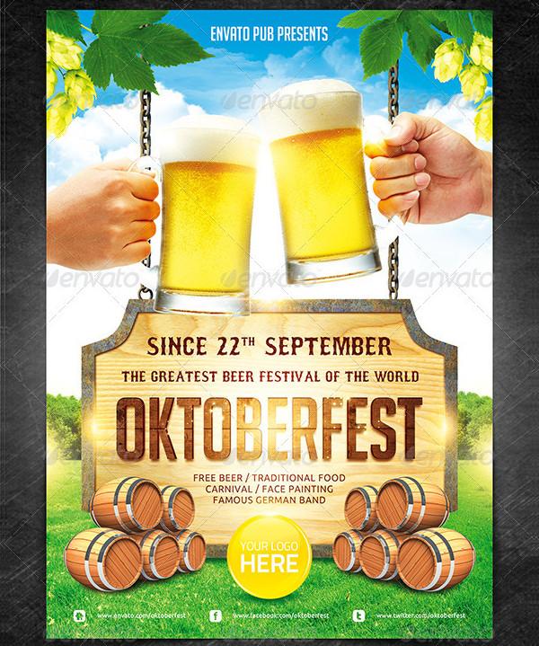 Unique Oktoberfest Festival Poster Template