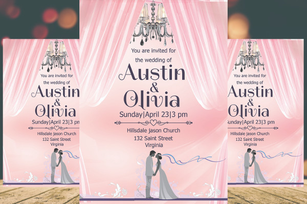 Unique Royal Wedding invitation Card Design