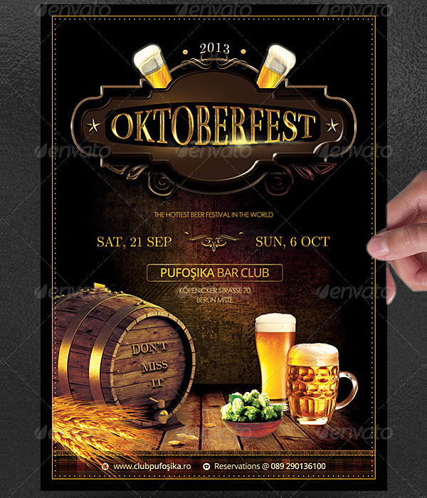 Vintage Oktoberfest Poster Design