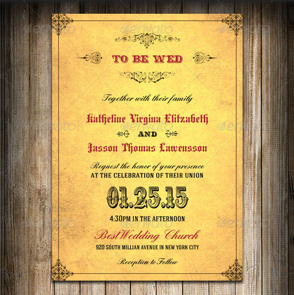 Wedding Invitation Royal Golden