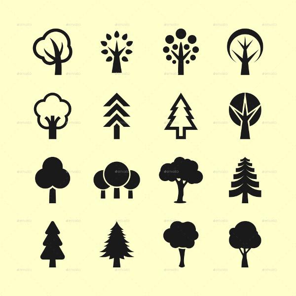 16 Popular Tree Icon Set
