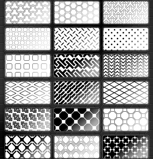 42 Black & White Patterns for Web Designers